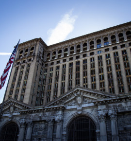 Verlaten treinstations: Michigan Central Station in de Verenigde Staten