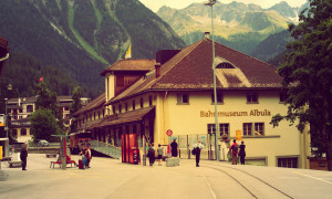 Spoorwegmuseum Albula in Bergün, Zwitserland