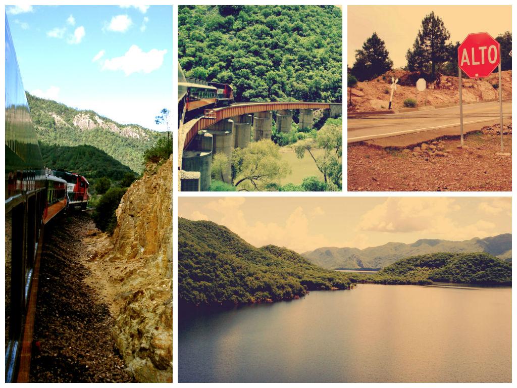 Een aantal foto's van de uitzichten tijdens de treinreis door de Copper Canyon