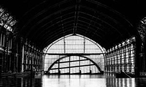 Verlaten treinstations: Station Mapocho in Santiago, Chili