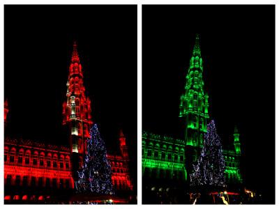 Glitter en glamour tijdens de kerstmarkt in Brussel