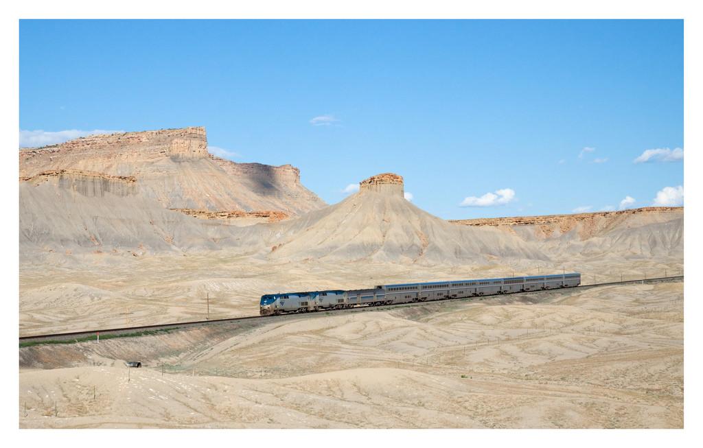 De California Zephyr tijdens zijn reis in Utah - © David Gulber