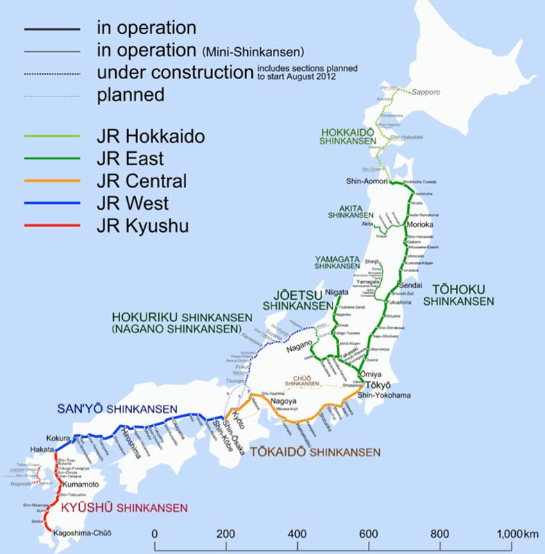 shinkansen-spoorwegen