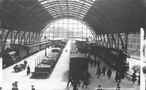 Het station vlak na opening in 1913!