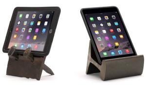 Gadget: Tablet-houder van oude spoorrails
