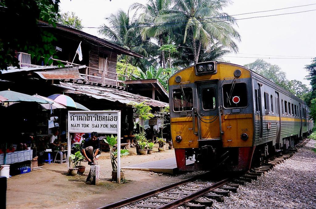 Eindpunt van de huidige spoorlijn in Nam Tok in Thailand. - ©Ananda