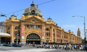 Terug in de tijd…Flinders Street Railway Station in Melbourne