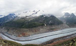 De Aletschgletsjer, grootste gletsjer van Zwitserland