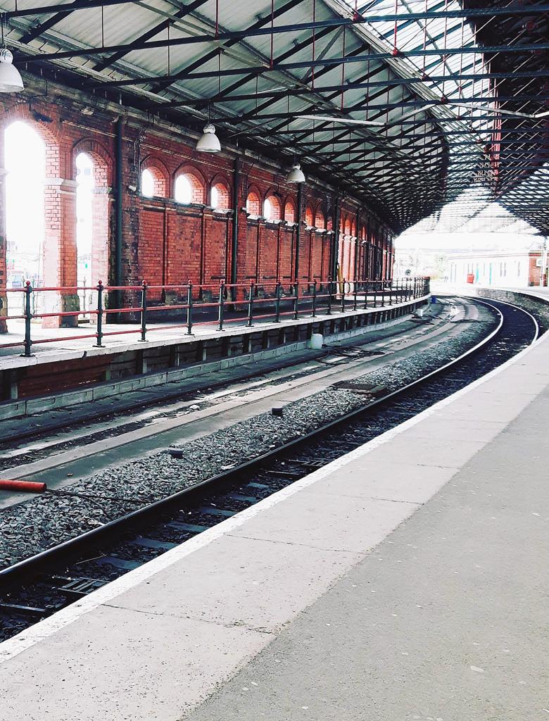 met de trein naar Ierland