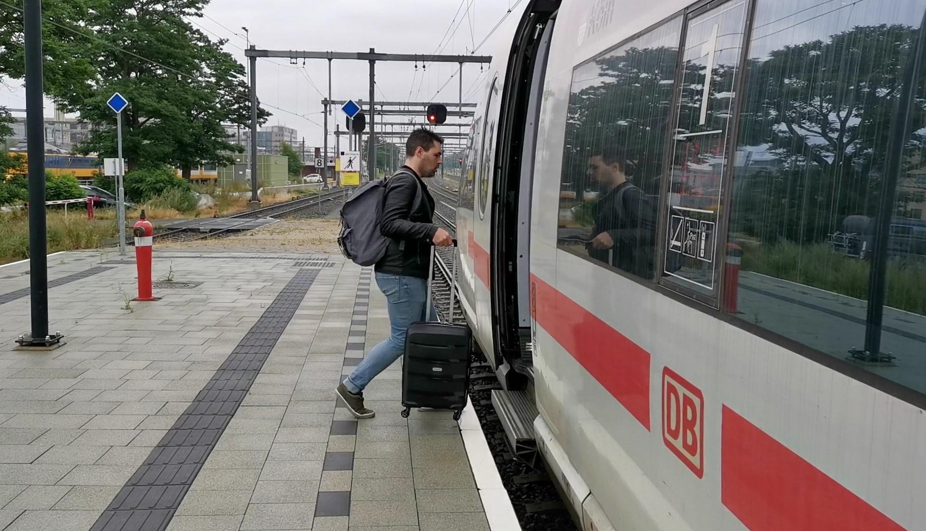 trein naar Zwitserland
