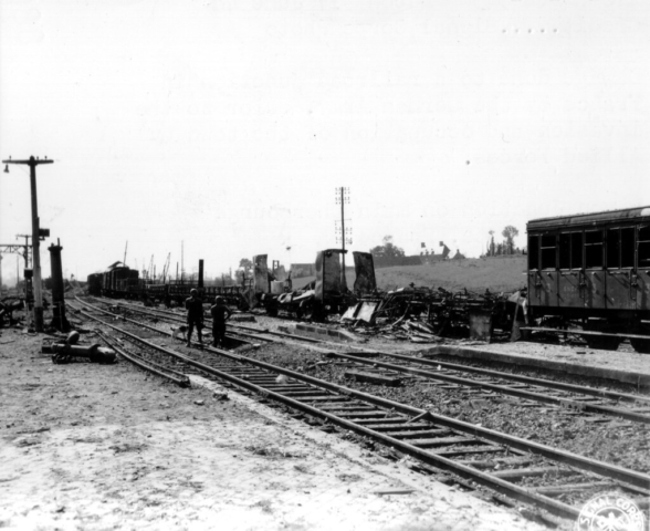 Spoorwegen in Normandië rond 1944